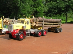 Was an old Autocar dumptruck, I converted it to an all wheel drive logger